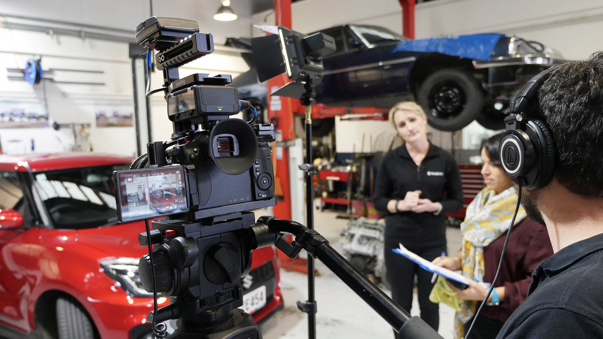 Emma Gilmour of Suzuki talking to camera