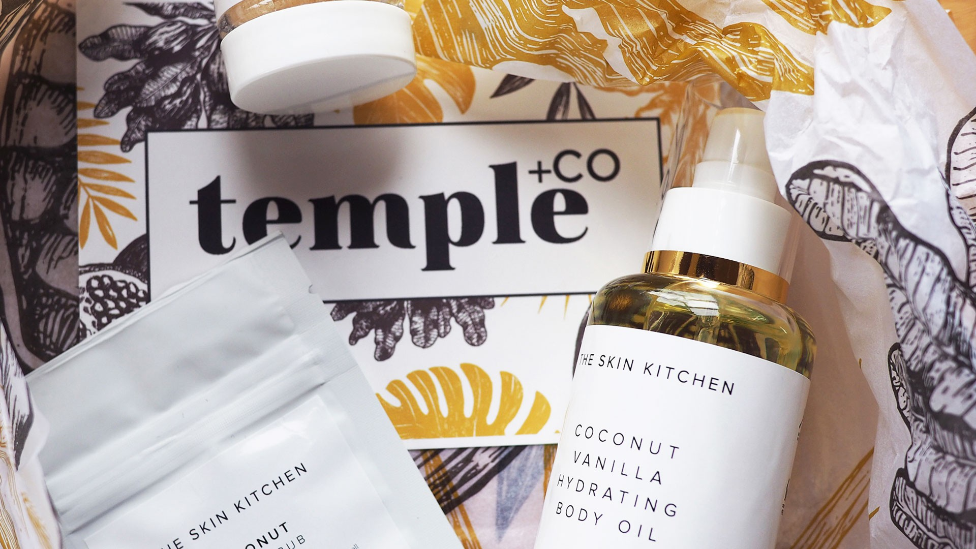 Temple+Co branding, packaging and products
