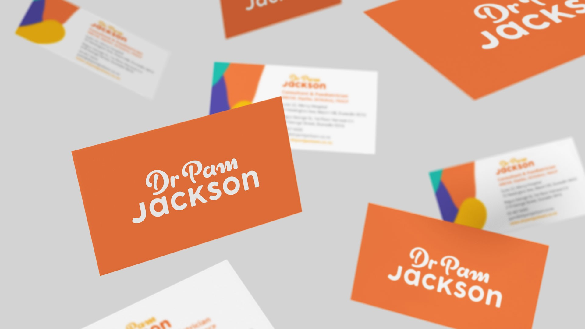 Dr Pam Jackson 01 Business Cards Mockup