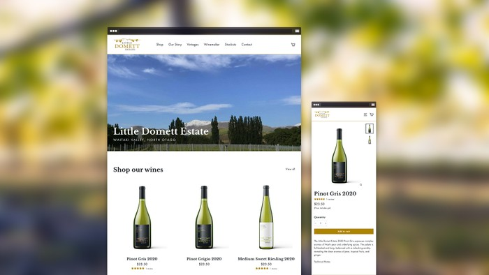 Little Domett Estate eCommerce Store.