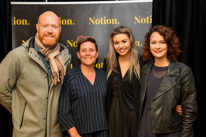 Part of our great team at Notion - Paul, Bex, Rosie, and Bekah
